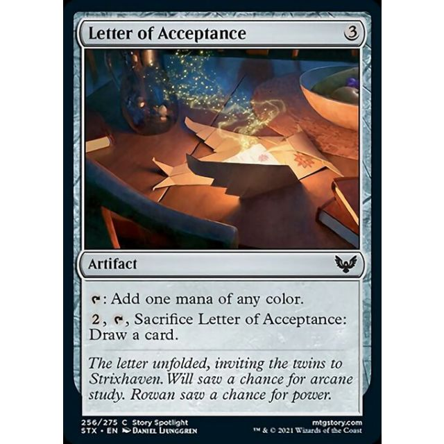 Letter of Acceptance - Strixhaven: School of Mages - English - FOIL - 256